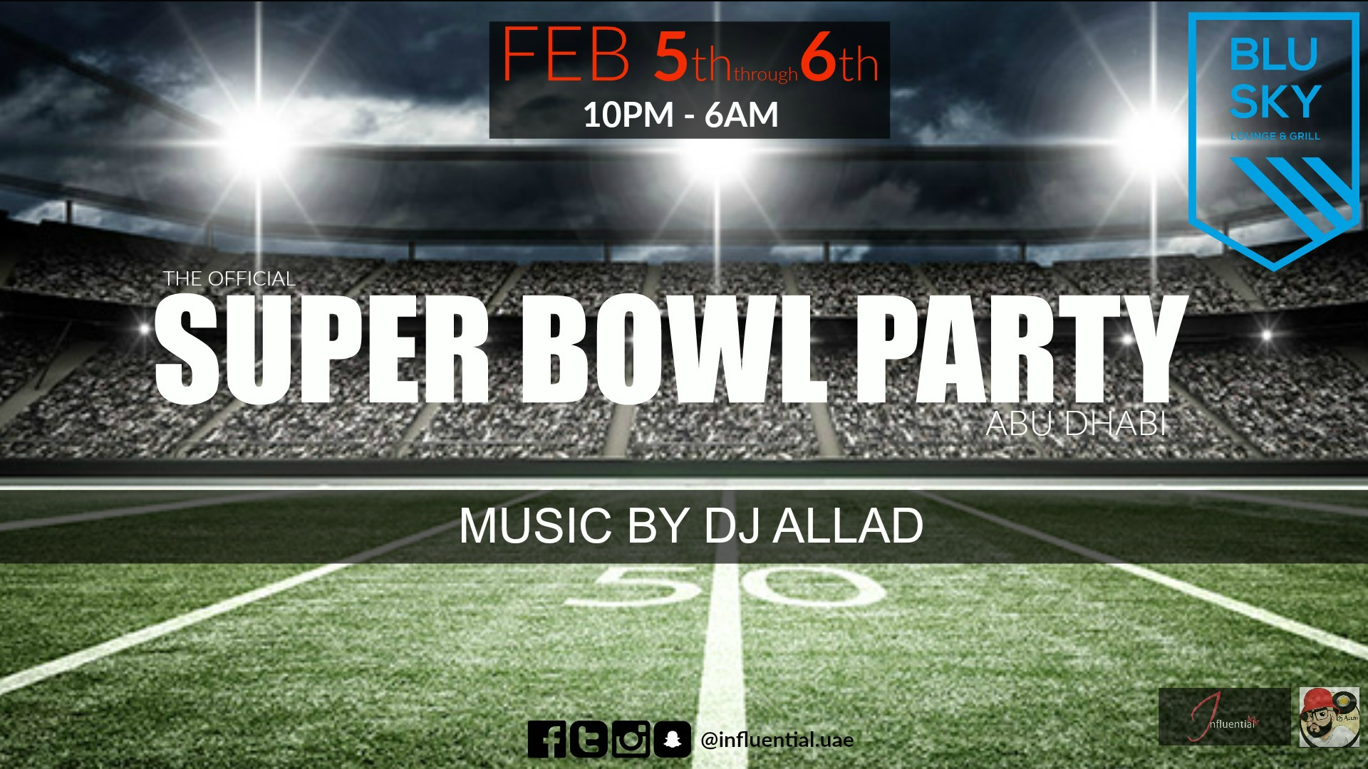 The official super bowl party @ Blu Sky