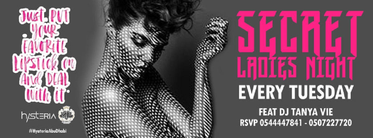 Secret Ladies Night @ Hysteria