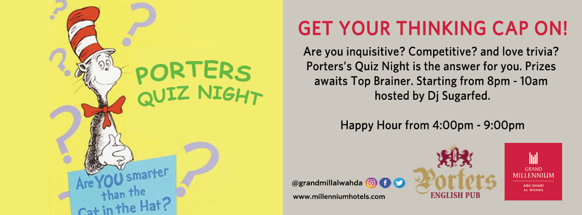 Quiz Night @ Porters English Pub