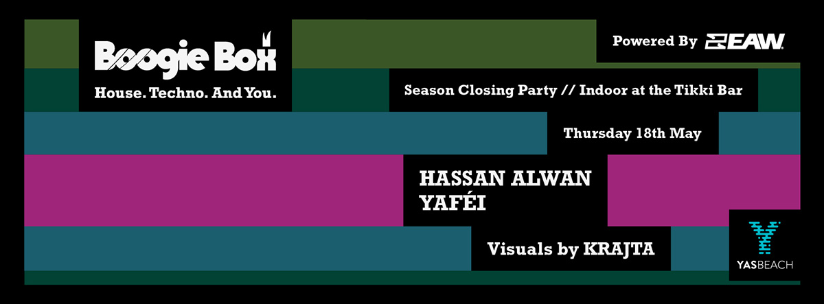 Boogie Box Closing Party Indoors w/ Hassan Alwan & Yafei