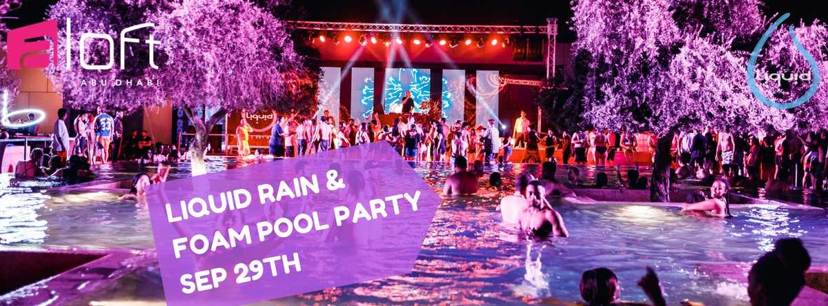 Liquid Rain & Foam Pool Party @ ALOFT