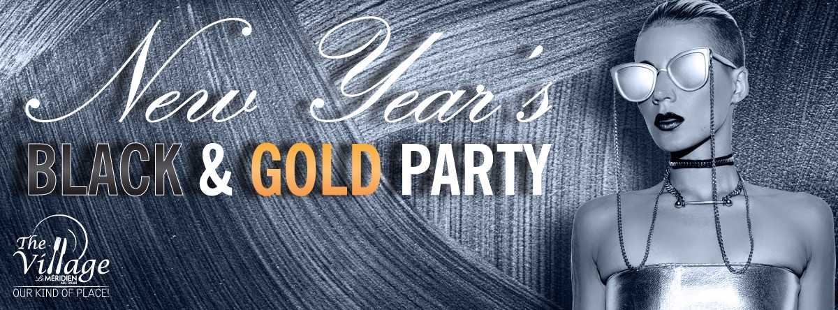 New Year's Eve Black & Gold Party
