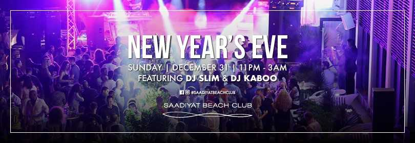 NYE AFTER PARTY @ Saadiyat Beach Club