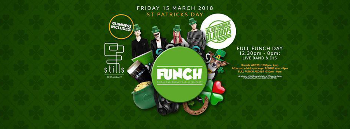 Funch St Patricks Day 7+ hour brunch @ STILLS