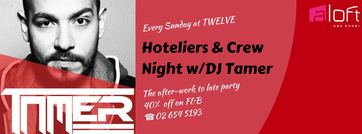 Sundays: Hoteliers & Crew Night with DJ Tamer @ Twelve