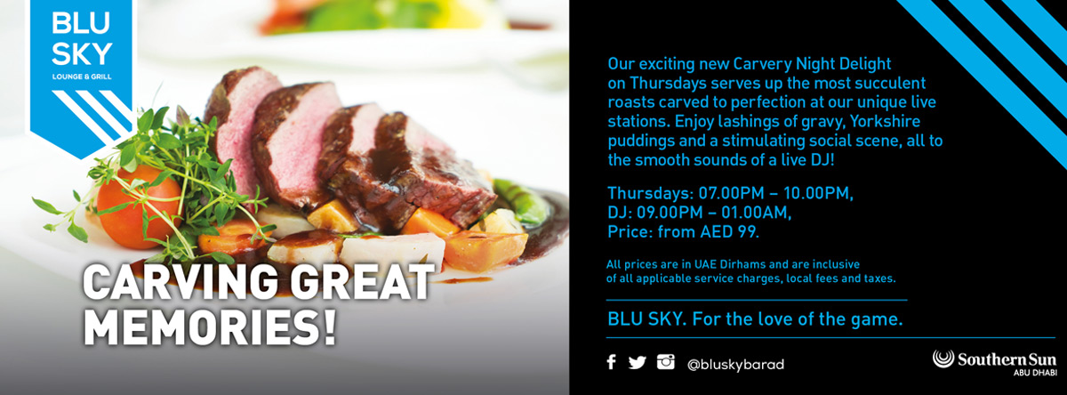 Carvery Night @ Blu Sky Bar