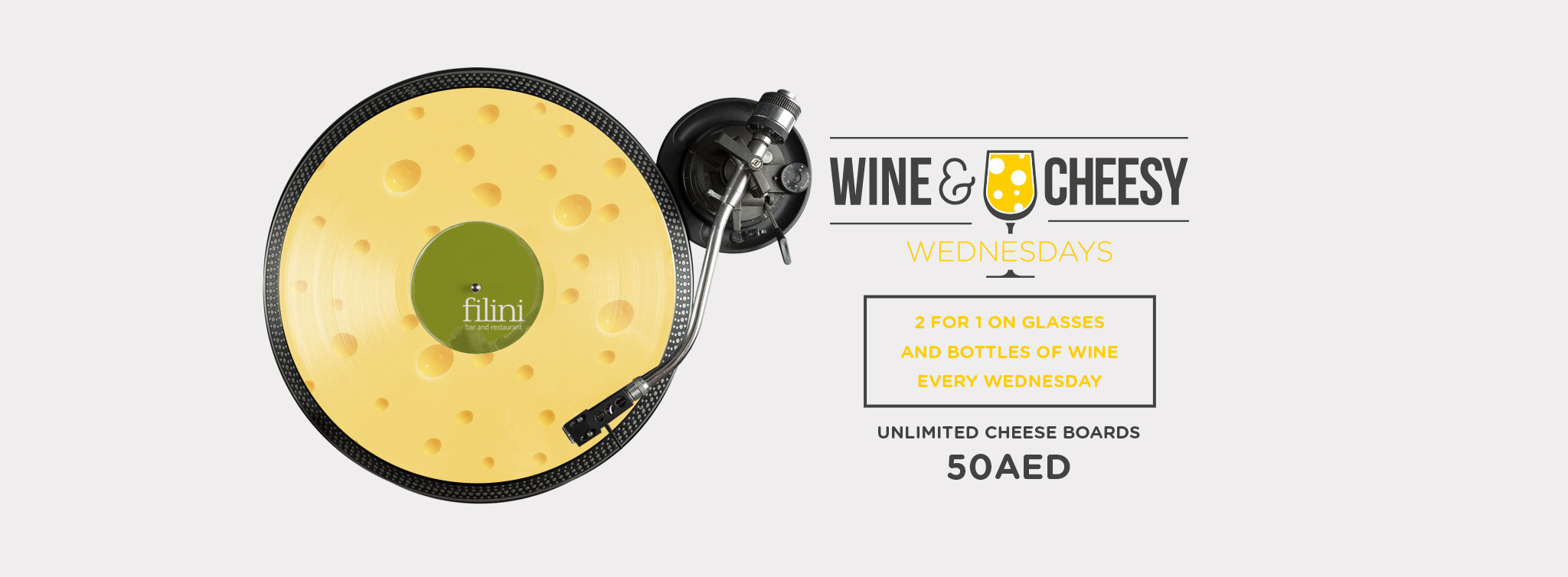 WINE & CHEESY WEDNESDAYS @ Filini Garden
