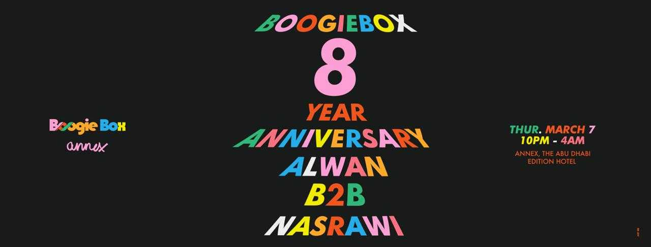 Boogie Box 8 Year Anniversary