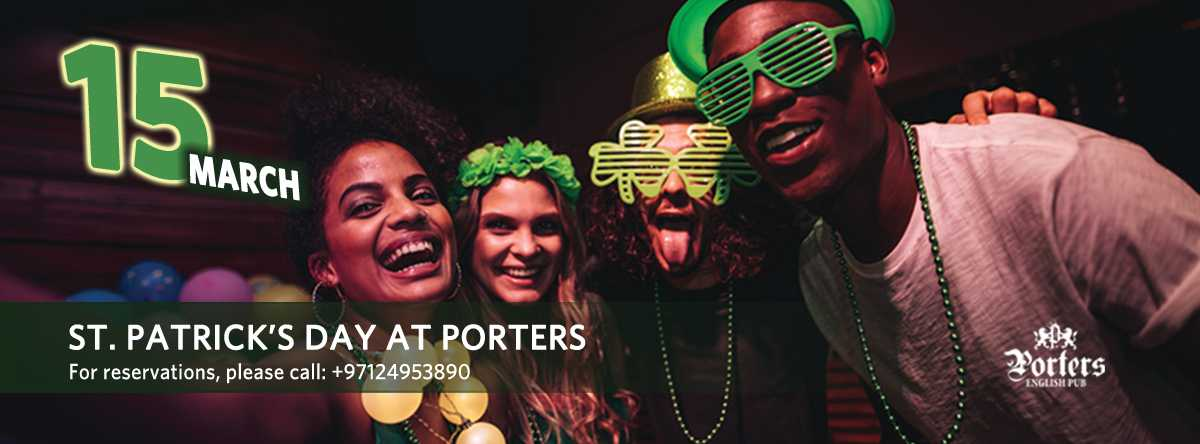 St. Patrick's Day Celebration @ Porters Pub