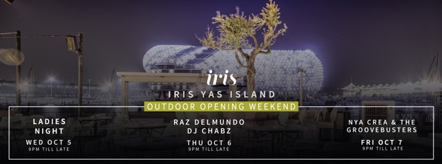 Iris Yas Island launches Iris Outdoors with a season opening weekend on October 5, 6 and  7