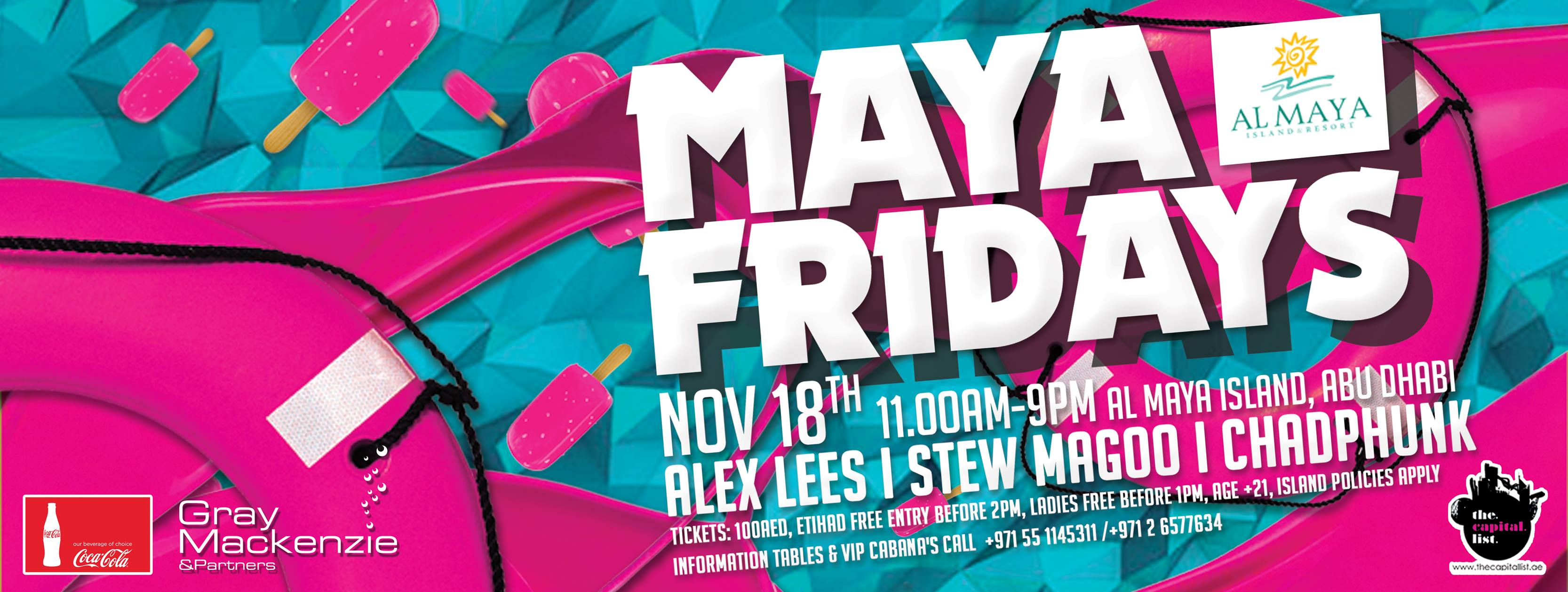 Maya Friday's 18 November at Al Maya Island!