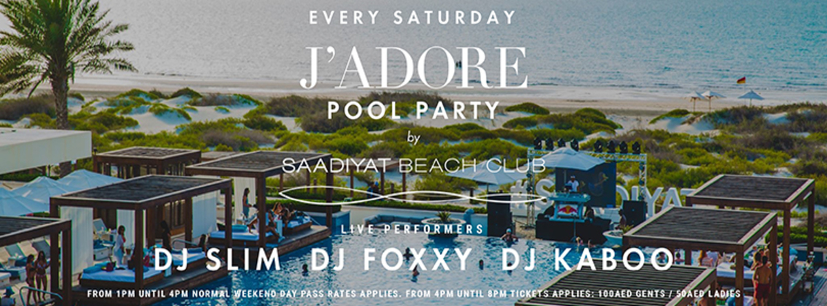 J'Adore @ Saadiyat Beach Club
